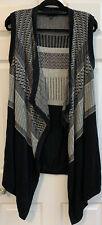 Banana Republic Womens Size M/L Black Sleeveless Open Front Cardigan Sweater