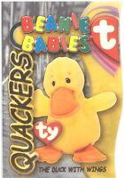 TY Beanie Babies BBOC Card - Series 3 Beanie/Buddy Left (GOLD) QUACKERS the Duck