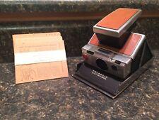 Vintage POLAROID SX-70 Land Camera chrome/tan leather
