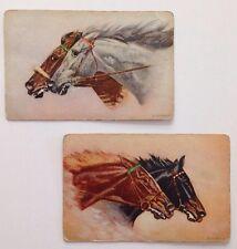 1950s Vintage Race Horse Swap Cards Pair