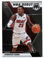2019-20 Panini Mosaic #268 Kendrick Nunn NBA DEBUT rookie RC card Heat