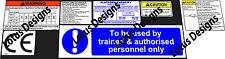 Sky lift, scissor lift, platform lift Warning Stickers / decals set