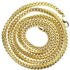 """FRANCO 10KT YELLOW HOLLOW GOLD 30""""LONG, 5MM, MENS CHAIN GOLD WT IS APP 46GMS"""