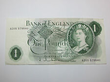 Bank Of England One Pound Banknote