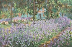 "MONET CLAUDE - THE ARTIST'S GARDEN AT GIVERNY - ART PRINT POSTER 11""X14"" (680)"