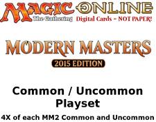 MTGO Magic Online MM2 Modern Masters 2015 Playset 724 Cards 4x Common/Uncommon