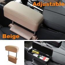 1x Retractable Car Center Console Seat Gap Pocket Keys Phone Organizer Beige