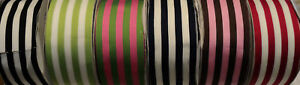 """2-1/2"""" WIDE SILKY GROSGRAIN RIBBON - STRIPES - 6 COLORS TO CHOOSE"""