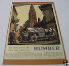 N6 - The Humber Snipe Saloon 1932 Postcard