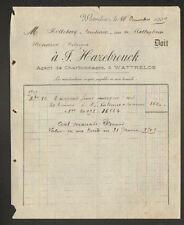 """WATTRELOS (59) CHARBONS COKES BRIQUETTES BOULETS """"J. HAZEBROUCK"""" en 1909"""