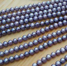 7-8MM Round Purple  Lavender Freshwater Pearls  Beads One Strand  40CM