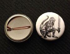 "AD&D Lizardman 1"" pin button - 1st Edition Trampier  Dungeons & Dragons"