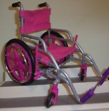 """My Life DOLL  Pink Wheelchair 10""""  Tall FOR 18"""" Doll  AMERICAN GIRL PRIORITY"""