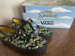 Vans - The Simpsons - Bart - Skeleton - Glow In The Dark - UK 1 - BNIB