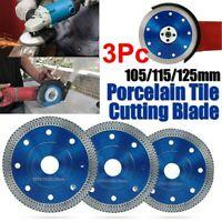 Porcelain//Tile Turbo Thin Diamond Cutting Blade//Disc Grinder Wheel 105//115//125mm