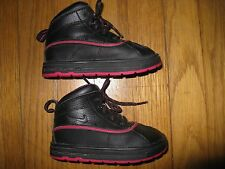Nike ACG Girls Size 7C Toddler Woodside High Top Black Pink Fall Leather Boots