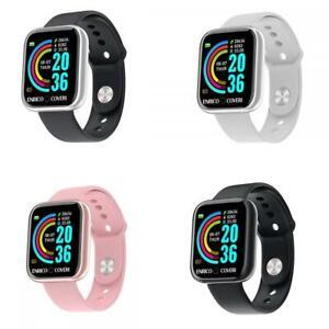 Smartwatch ENRICO COVERI Musica Sport Silicone Nero Bianco Rosa