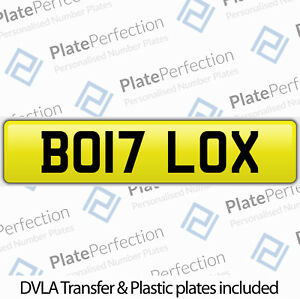 BO17 LOX BOLLOCKS FUN FUNNY CHERISHED PRIVATE NUMBER PLATE DVLA REGISTRATION