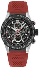 CAR2A1Z.FT6044 | NEW! TAG HEUER CARRERA CALIBRE HEUER 01 MENS WATCH W/ RED STRAP