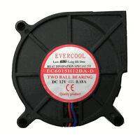 Evercool EC6015H12BA-B 60mm x 15mm 12V DC Dual Ball Bearing Blower Fan 3 pin