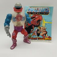 Vintage 1984 ROBOTO Near Complete Action Figure with Mini Comic Book He-Man