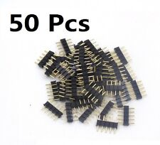 50 Pcs 5-Pin Needle Male Connector High Temperature for RGBw LED Strip US Ship