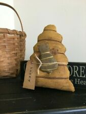 Primitive Bee Keep and Bumble Bee Shelf Sitter