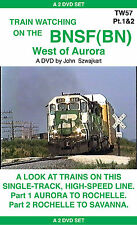 TW57 TRAIN WATCHING ON THE BNSF(BN) WEST OF AURORA TO SAVANNA  DVD - G Rated
