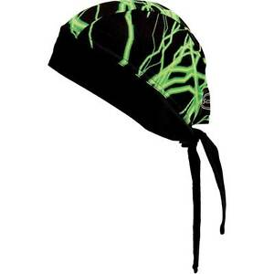 Schampa Green Lightning Z-Wrap Stretch Headwrap for Motorcycle Offroad ATV