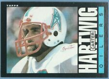1985 Topps #250 Carter Hartwig Houston Oilers Texans Combined Shipping