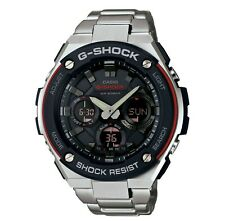Men's Casio G-Shock G-Steel Resin Bezel Watch Black/Red