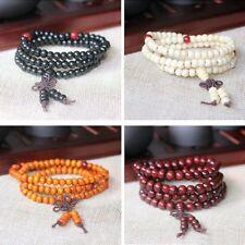 4 Sets Buddhist Prayer Beads 108 Beads Sandalwood Buddhist Bracelets Prayer BP-4