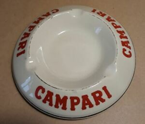 Cendrier blanc Campari