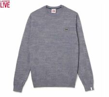 LACOSTE LIVE! MEN'S CREW NECK COTTON SWEATSHIRT/JUMPER SIZE 3 SMALL