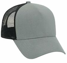 Cotton Flannel Trucker Hat with Adjustable Mesh Back Justin Bieber Gray & Black