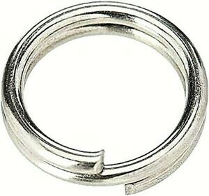 South Bend SR-A/S Assorted Stainless Steel Split Rings 12 Pak Small Sizes 4 & 5