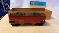 HO Scale Athearn 34' ATSF Santa Fe Offset Side Hopper With Load, Brown #180892