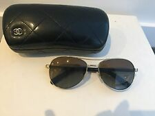 3c543bb10358 Preloved Chanel Aviator Sunglasses Light Brown Lenses Tortoise Gold Metal  Frame