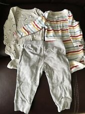 Gap Baby Boys 3-6 Months Grey Gray Bodysuits & Pants Outfit