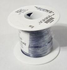 22AWG Solid Hook Up Wire Alpha 3051/1 BL005 Blue PVC UL1007/1569 105C 300V 100'
