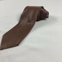 Stefano Ricci Italy 100% Silk Necktie Tie Brown Orang Blue Square Micro Pattern