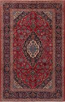 Excellent Vintage Floral Oriental Ardakan Area Rug Wool Hand-Knotted Carpet 7x10