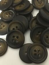 20 Ligne 13 MM Horn Effect Polyester Button Pack Of 10 Brown