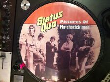 "STATUS QUO- PICTURES OF MATCHSTICK MEN 12"" PICTURE DISC PROMO SINGLE LP RARE"