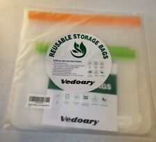 New listing Reusable silicone food storage bags 6 Pieces 3 Large 3 Small