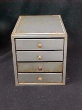 Vintage Metal 4 Drawer Small Parts Cabinet Storage Organizer Industrial