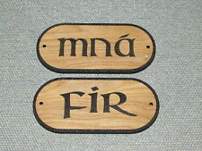 Mna Fir, Men Women Restroom Door Bathroom Signs Irish