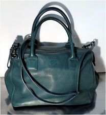 Mywalit Green Pebbled Soft Leather Medium Size Two Handle Purse
