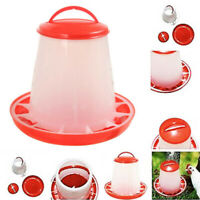 Plastic Automatic 1.5L Chicken Poultry Feeder Food Bird Quail Drink Water-