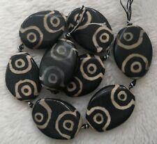 30x40mm Natural Tibetan Agates Oval Loose Beads 8pcs